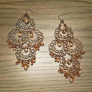 Femine chic crystal chandelier earrings